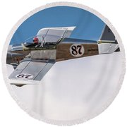 Alex Alverez Friday Morning At Reno Air Race Signature Edition 16x9 Aspect Round Beach Towel