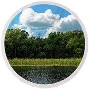 Alexander Creek Round Beach Towel