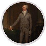 Alexander Hamilton Full-length Portrait Round Beach Towel