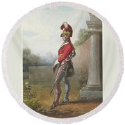 Alexander Ivanovitch Sauerweid 1783-1844 British Army. Private, Life Guards. About 1816 Round Beach Towel