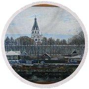 Alexandrov Sloboda Museum View Round Beach Towel