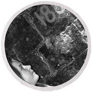 Alexia Curious Round Beach Towel
