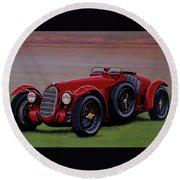 Alfa Romeo 8c 2900a Botticella Spider 1936 Painting Round Beach Towel
