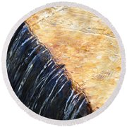 Alfred Caldwell Lily Pool Waterfall Round Beach Towel