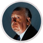 Alfred Hitchcock Round Beach Towel