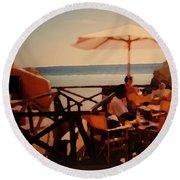 Algarve Beach Bar Round Beach Towel