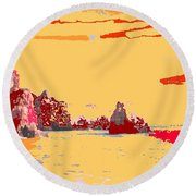 Algarve Sunrise Round Beach Towel