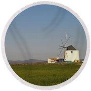 Algarve Windmill Round Beach Towel by Heiko Koehrer-Wagner