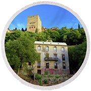 Alhambra Environs Round Beach Towel