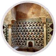 Alhambra Palace Baths Round Beach Towel