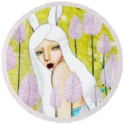 Alice In Oz Round Beach Towel