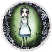 Alice In The Deadly Garden Round Beach Towel