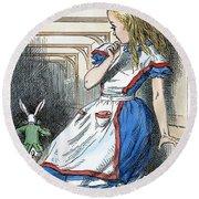 Alice In Wonderland Round Beach Towel