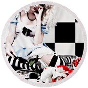 Alice2 Round Beach Towel