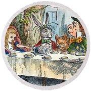 Alices Mad-tea Party, 1865 Round Beach Towel
