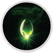 Alien 1979 Round Beach Towel