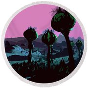 Alien Eden Round Beach Towel