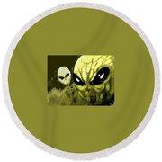 Alien Invasion Round Beach Towel