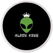 Alien King Ufo Gift Round Beach Towel