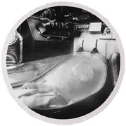 Alien Photograph Round Beach Towel