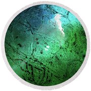 Alien Planet Round Beach Towel