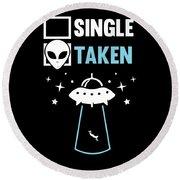 Alien Ufo Single Gift Round Beach Towel