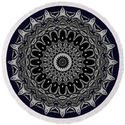 Aliens And The Spaceship Round Beach Towel