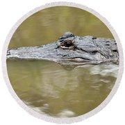 Alligator Stealth Round Beach Towel