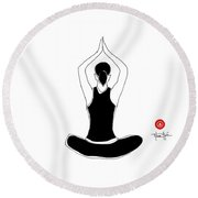 Align With Your Center Round Beach Towel