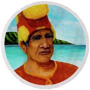 Alihi Hawaiian Name For Chief #295 Round Beach Towel