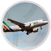 Alitalia Airbus A319-112 Round Beach Towel