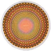 Alive Painting - Pa Round Beach Towel