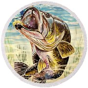 All About The Bass Round Beach Towel