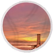 All Aglow Round Beach Towel