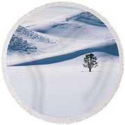 All Alone Round Beach Towel