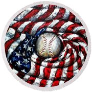All American Round Beach Towel
