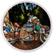 All But The Kitchen Sink Round Beach Towel