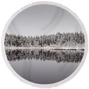 All Colors Of Gray. Panorama Round Beach Towel