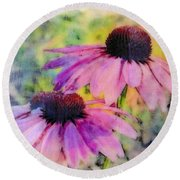 All Delights Are Vain Round Beach Towel