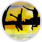 All In Round Beach Towel