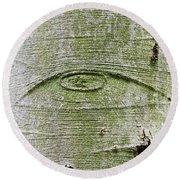 All-seeing Eye Of God On A Tree Bark Round Beach Towel