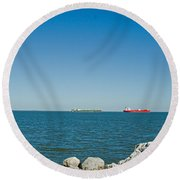 All Ships At Sea Round Beach Towel