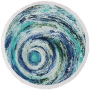 All Shook Up Round Beach Towel