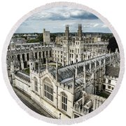 All Souls College - Oxford University Round Beach Towel
