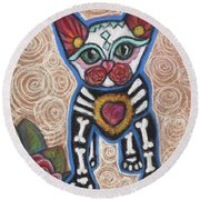 All Souls Day Aztec Round Beach Towel