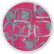 All Squared Away Round Beach Towel