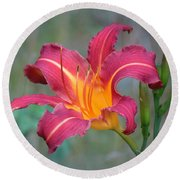 All Summer Lily Round Beach Towel