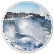 All The Falls Round Beach Towel