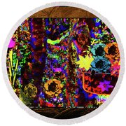 All The Flowers We Meant To Give Each Other Round Beach Towel