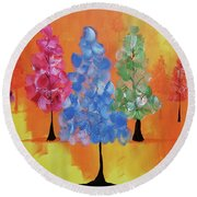 All The Pretty Colors II Round Beach Towel